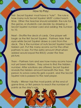 Unknown Number Games with Secret Squirrel