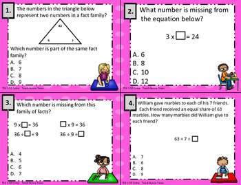 3.5D Unknown Number in Multiplication/Division Comp. Task Cards STAAR