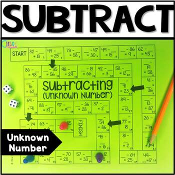 Unknown Number in Subtraction Board Game