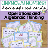 Unknown Numbers: 3 Task Card Sets {1st Grade}