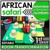 Unknown Numbers   1st Grade Safari Classroom Transformation