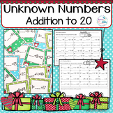 Christmas Math Addition and Subtraction to 20 Center and Worksheets