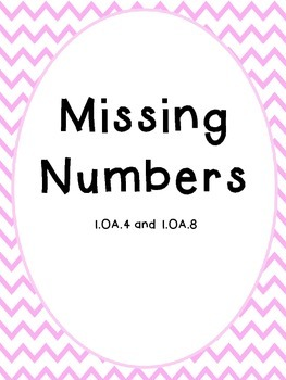 Unknown Numbers for Addition and Subtraction