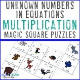 Multiplication Missing Addends Math Center Game | Unknown