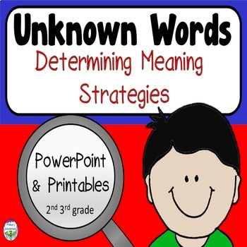 Unknown Words Determining Meaning Strategies POWERPOINT