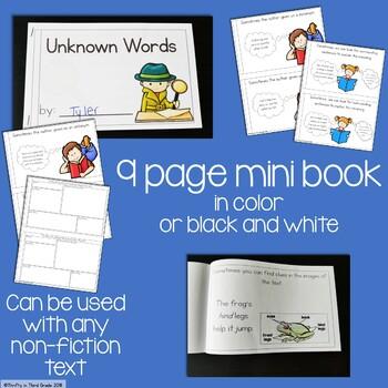 Unknown Words Interactive Mini Book {RI.2.4}