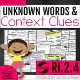 Context Clues and Unknown Words 2nd Grade RI.2.4 - Digital With Google Slides