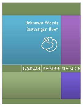 Unknown Words Scavenger Hunt