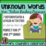 Unknown Words in a Text Using Context Clues - First Grade