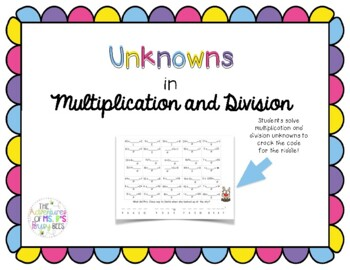 Unknowns in Division (and Multiplication)