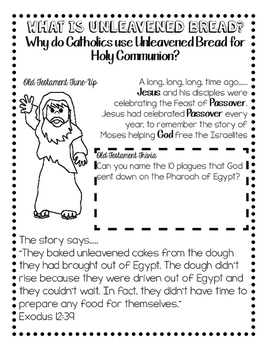 Unleavened Bread and Communion Activity