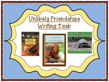 Unlikely Friendships for Kids: The Dog & The Piglet Writing Task Printables Pack
