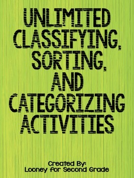 Unlimited Categorizing, Sorting, and Classifying Activities