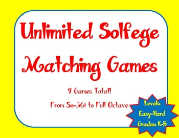 Unlimited Solfege: Editable Matching Game