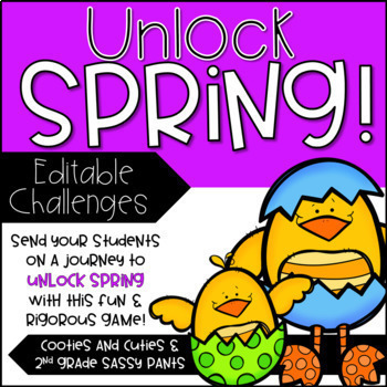 Unlock Spring- An EDITABLE Easter Game