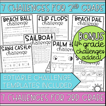 Unlock Summer {EDITABLE} Challenges