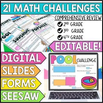 Unlock Summer   Math Games   Editable Challenges