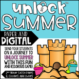Distance Learning | Unlock Summer | Digital Math Games | Editable Challenges