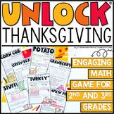 Unlock Thanksgiving | Thanksgiving Game | Editable | Math Game