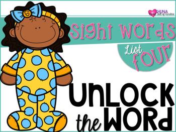 Unlock The Sight Words {List Four}