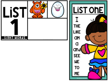 Unlock The Sight Words {List One}