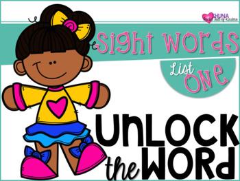 Unlock The Sight Words {List One}