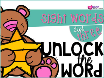 Unlock The Sight Words {List Three}