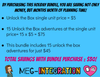 Unlock the Box: A SUPER Holiday Bundle of 15 Breakout Adventures!