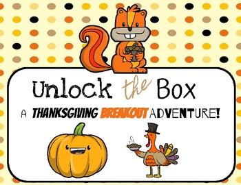 Unlock the Box: A Thanksgiving Breakout Adventure
