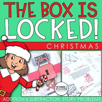 Unlock the Box! Christmas Math Activity {Addition & Subtraction w/ Regrouping}
