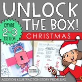 Unlock the Box! Christmas Math Activity Gr. 2-3 {Addition & Subtraction Stories}