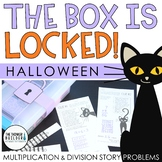 The Box is Locked! Halloween Math Challenge {Multiplication & Division}