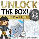 Unlock the Box! Pirates! Math Challenge {Addition & Subtraction w/ Regrouping}