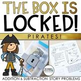 Unlock the Box! Pirates! Math Challenge Gr. 2-3 {Addition & Subtraction Stories}