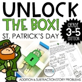 Unlock the Box! St. Patrick's Day Math {Addition & Subtraction with Regrouping}