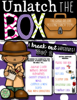 Unlock the Box (a break out game): The Case of the Missing Lunch Items