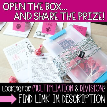 Unlock the Box! Valentine's Day Math Gr. 2-3 {Addition & Subtraction Stories}
