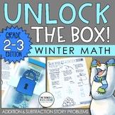 Unlock the Box! Winter Math Activity Gr. 2-3 {Addition & Subtraction Stories}