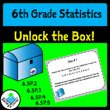 Unlock the Box, a 6th Grade Math Breakout Activity for Centers or Review