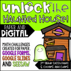 Unlock the Haunted House - An EDITABLE Halloween Game