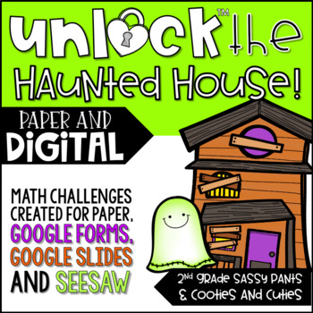 unlock the haunted house halloween math games editable challenges