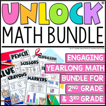 Unlock the Learning | Math Games | GROWING BUNDLE | Editable