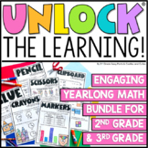 Unlock the Learning | Math Games | GROWING BUNDLE | Editable Challenges