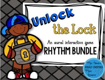 Unlock the Lock: Aural Interactive Game {8-Game Rhythm Bundle}