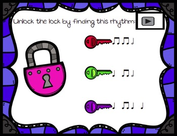 Unlock the Lock: Aural Interactive Game {Half Note}