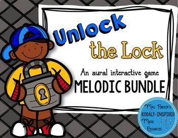 Unlock the Lock: Aural Interactive Game {Melodic Bundle}