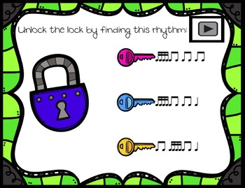 Unlock the Lock: Aural Interactive Game {Sixteenth Note}