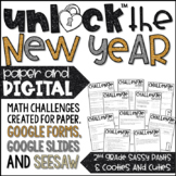 Unlock the New Year! | Math Games | Editable Challenges