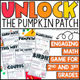 Unlock the Pumpkin Patch | Math Games | Editable Challenges