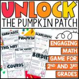 Unlock the Pumpkin Patch | Math Games | Editable Challenge